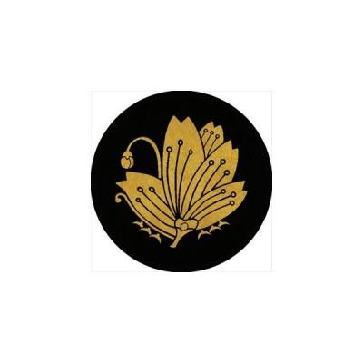 家紋シール 桜蝶紋 直径10cm 丸型 2枚セット KS10M-1312