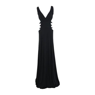 ARTISAN ロングワンピース&ドレス ブラック 40 レーヨン 100% ロングワンピース&ドレス