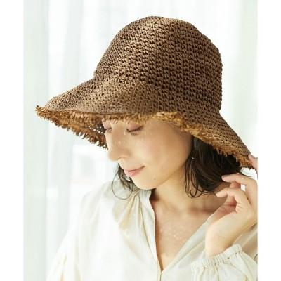 帽子 ハット ペーパーフリンジバケットハット 935024
