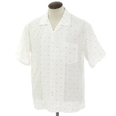 アンユーズド UNUSED レーヨン 半袖 オープンカラーシャツ ホワイト 3