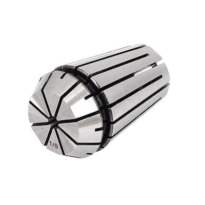 uxcell スプリングコレットチャック フライス旋盤ツール シルバートーン ステンレス鋼 22x32mm