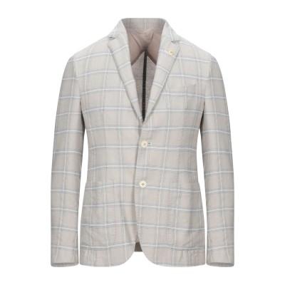 BRECO'S テーラードジャケット ベージュ 48 コットン 50% / リネン 50% テーラードジャケット