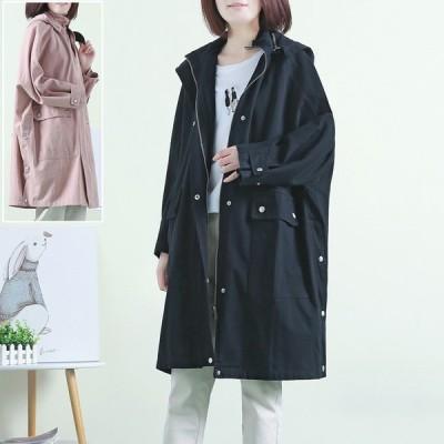 モッズコート レディース ファッション 大きいサイズ 40代 30代 春 アウター 体形カバー ビッグシルエット オーバーサイズ