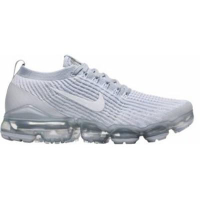 ナイキ レディース スニーカー シューズ Nike Women's Air VaporMax Flyknit 3 Shoes White/Plat/Silver
