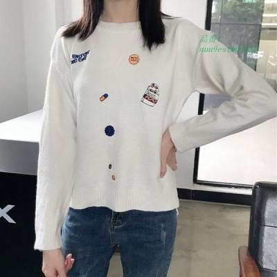 韓国 カジュアル ニット 女性 は O 女性 セーター や プル オーバー 長袖 カシミヤ セーターニット女性セーター AliExpress グループ上 レディース 衣服 か