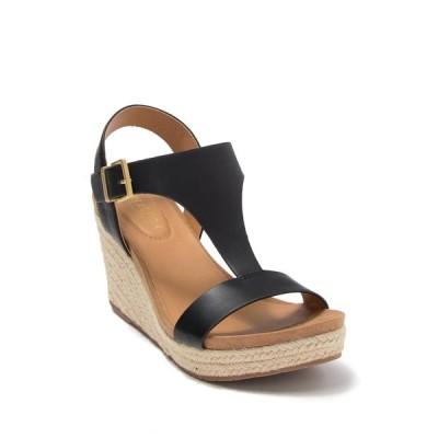 ケネスコール レディース サンダル シューズ Cami Espadrille Platform Wedge Sandal BLACK