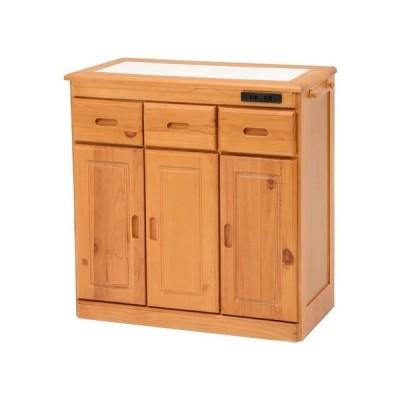 キッチンカウンター ナチュラル 幅69×奥行34×高さ71cm 完成品 ds-2333527 送料無料