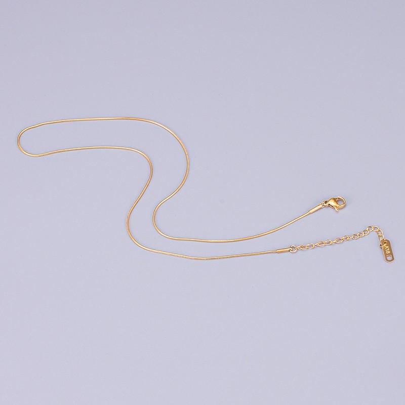 鈦鋼項鍊 基本款 圓蛇鏈鈦鋼項鍊/金色,銀色,玫瑰金色 【365ME】打底鏈/蛇骨鍊/鈦鋼項鍊