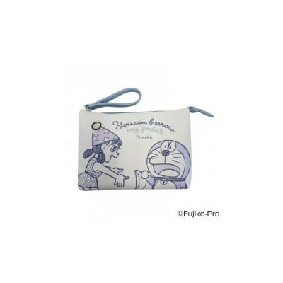 I'm Doraemon ドラえもん ワンポイント刺繍Wポーチ A(帽子 ゴールド刺繍) DRA11-A   4547274031164