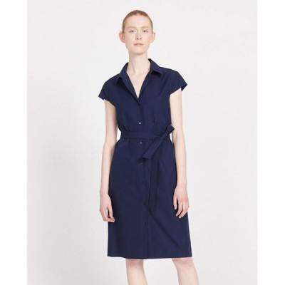 Comptoir des Cotonniers/コントワー・デ・コトニエ コットンポプリン半袖シャツドレス BLUE 38