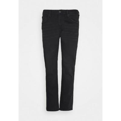 エスプリ デニムパンツ メンズ ボトムス Straight leg jeans - black dark wash