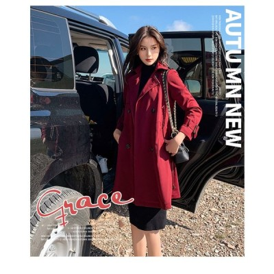 レディーコート トレンチコート ダスターコート アウター ビジネス カジュアル 春秋 女性 2色 日常ウエア 通勤 nfy01