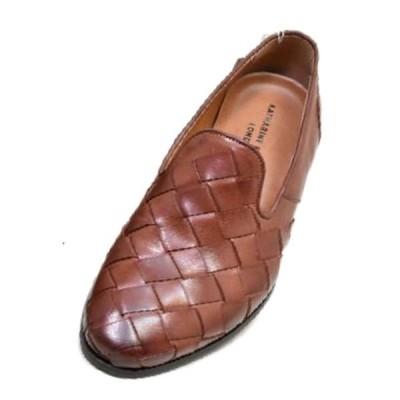 キャサリンハムネット 靴 メンズ KATHARINE HAMNETT KH31612 ブラウン メッシュ 本革 ヴァンプ メンズ ビジネスシューズ