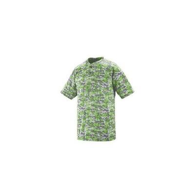 ユニセックス 衣類 トップス Augusta Drop Ship Adult Polyester Digi Print Two-Button Short-Sleeve Jersey Tシャツ