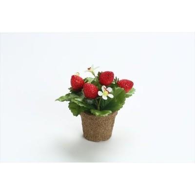 《 フェイクフルーツ 》◆とりよせ品◆花びし ストロベリーポット レッド