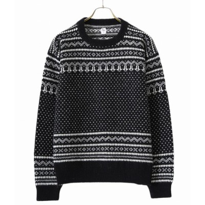 【10倍】KAPTAIN SUNSHINE / キャプテンサンシャイン : Snowy Patterned Sweater :KS20FKN01