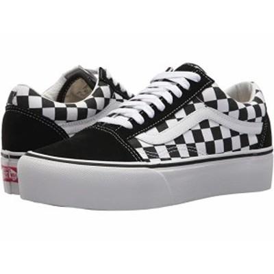 (取寄)バンズ オールド スクール プラットフォーム Vans Old Skool Platform (Checkerboard) Black/True White