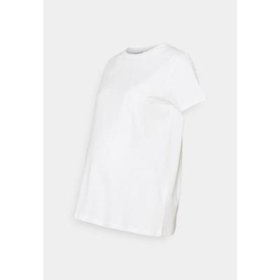レディース ファッション MLSIA BOXY - Basic T-shirt - snow white