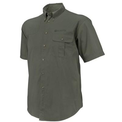 ベレッタ メンズ シャツ トップス TM Short-Sleeve Woven Shooting Shirt Green Olive