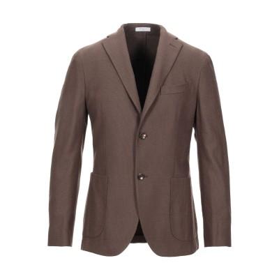 ボリオリ BOGLIOLI テーラードジャケット ブラウン 50 コットン 61% / バージンウール 38% / ポリウレタン 1% テーラードジ
