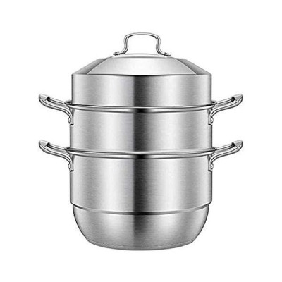 NBBB Multi Layer Steamer Pan Set with Lid Healthy Cooking Steamer Pot Induction Hob Gas General Stock Pot 1230 (Color : B, Size : 30CM)