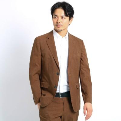 タケオ キクチ TAKEO KIKUCHI 【Sサイズ~】リネンライクプリントジャケット (クールドッツ(R)) (ブラウン)