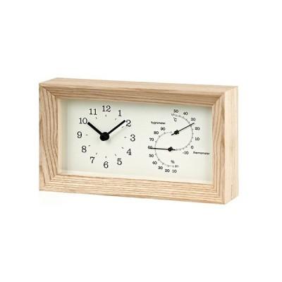 タカタレムノス FRAME(フレーム) 温湿度計付 LC13−14NT ナチュラル│時計 置き時計 送料無料 東急ハンズ
