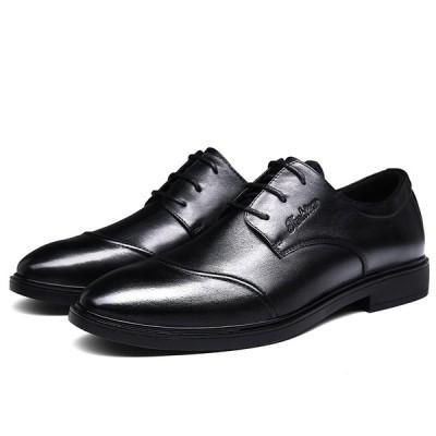 メンズビジネスシューズ 紳士靴 シューズ コンフォートシューズ レースアップ 軽量 本革靴 通勤  滑り止め カジュアル 通気性