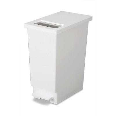 トンボ ゴミ箱 45L 日本製 プッシュタイプ ペダル式 ホワイト ユニード 新輝合成 45S