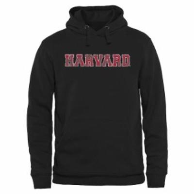 Fanatics Branded ファナティクス ブランド スポーツ用品  Harvard Crimson Black Classic Wordmark Pullover Hoodie