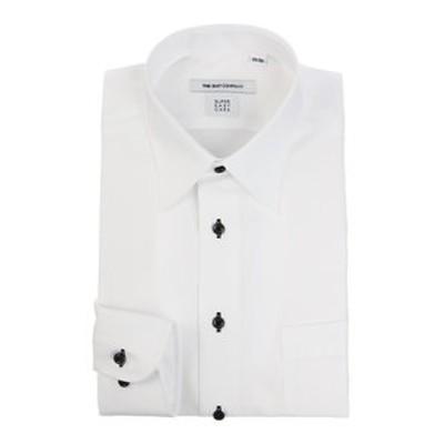 【SUPER EASY CARE】レギュラーカラードレスシャツ 織柄 〔EC・FIT〕