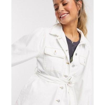ニュールック レディース ジャケット&ブルゾン アウター New Look puff sleeve jacket in off white Off white