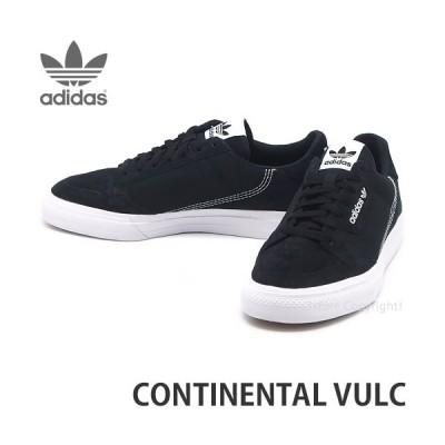 アディダス コンチネンタル バルク adidas CONTINENTAL VULC スニーカー メンズ シューズ 靴 クラシカル カラー:BLK/WHT/BLK