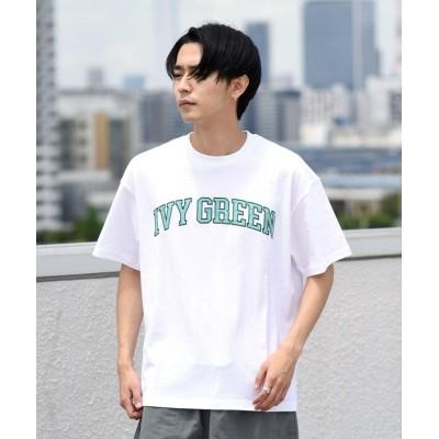 【シップス】 MACOBER: アップリケ Tシャツ メンズ ホワイト LARGE SHIPS