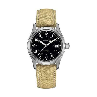 Hamilton Khaki Field Hand Wind Black Dial Men's Watch H69439933 並行輸入品