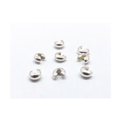 つぶし玉カバー(クリンプカバー)白銀 10個入り ph-0359