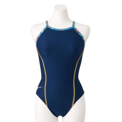 ミズノ 競泳練習用ミディアムカット[レディース] 14ネイビー L スイム 競泳水着 エクサースーツ(練習用水着) N2MA1780