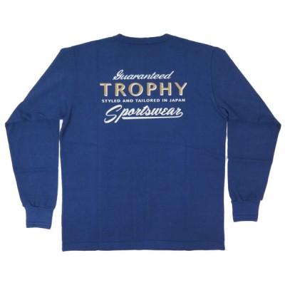 【トロフィークロージング】 バックロゴ 長袖Tシャツ/ポケット付き TROPHY CLOTHING TR21SS-201 日本製