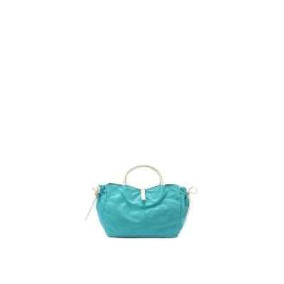 BRONTIBAYPARIS / フランス製 ナイロンハンドバッグ「コモ」 (アクアマリン*ゴールド)