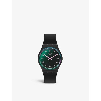 スウォッチ SWATCH メンズ 腕時計 クォーツ式時計 GB330 silicone and plastic quartz watch BLACK