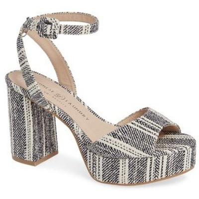 チャイニーズランドリー サンダル シューズ レディース Theresa Platform Sandal Navy/ Natural Fabric