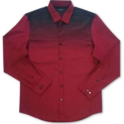 アルファニ Alfani メンズ シャツ トップス Croydon Woven Shirt Jester Red