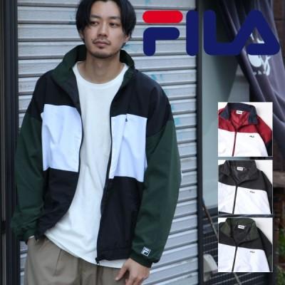 FILA ナイロンジャケット メンズ ジャケット ブルゾン アウター ナイロン 切替 スポーティ 秋 秋服 (fh7631)