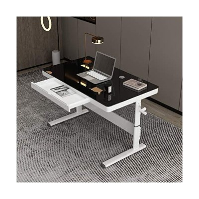 Height Adjustable Sitting or Standing Desk with Drawer 39 L x 24 W TableTop