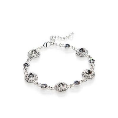 ネーピア レディース ブレスレット・バングル・アンクレット アクセサリー Boxed Silver-Tone Crystal Bracelet
