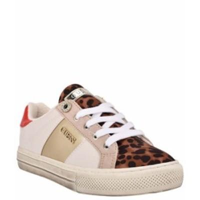 ゲス レディース スニーカー シューズ Loven3 Leopard Print Lace-Up Sneakers Natural/Multi