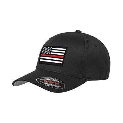 Thin Blue Line Flexfit Thin Red Line Hat American Flag S/M