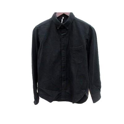 【中古】m'braque シャツ ボタンダウン 長袖 36 黒 ブラック /RT メンズ 【ベクトル 古着】