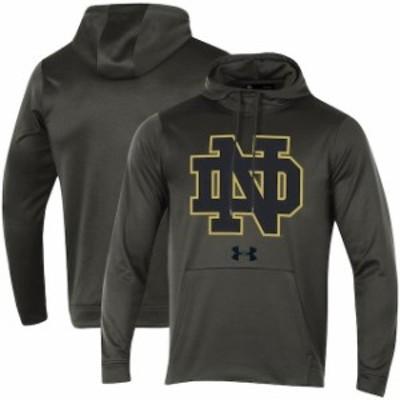 Under Armour アンダー アーマー スポーツ用品  Under Armour Notre Dame Fighting Irish Charcoal Big Logo Pullover Hoo