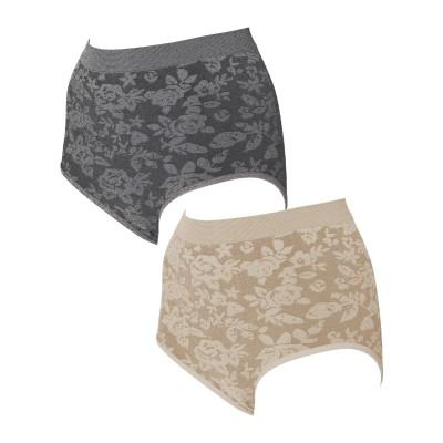 エアーフィットエレガントハイウエストショーツ 2色組(LL~3L) スタンダードショーツ, Panties